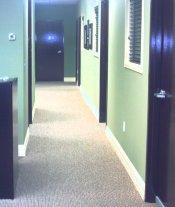 doors match receptionist desk