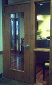 Blond Denist's door
