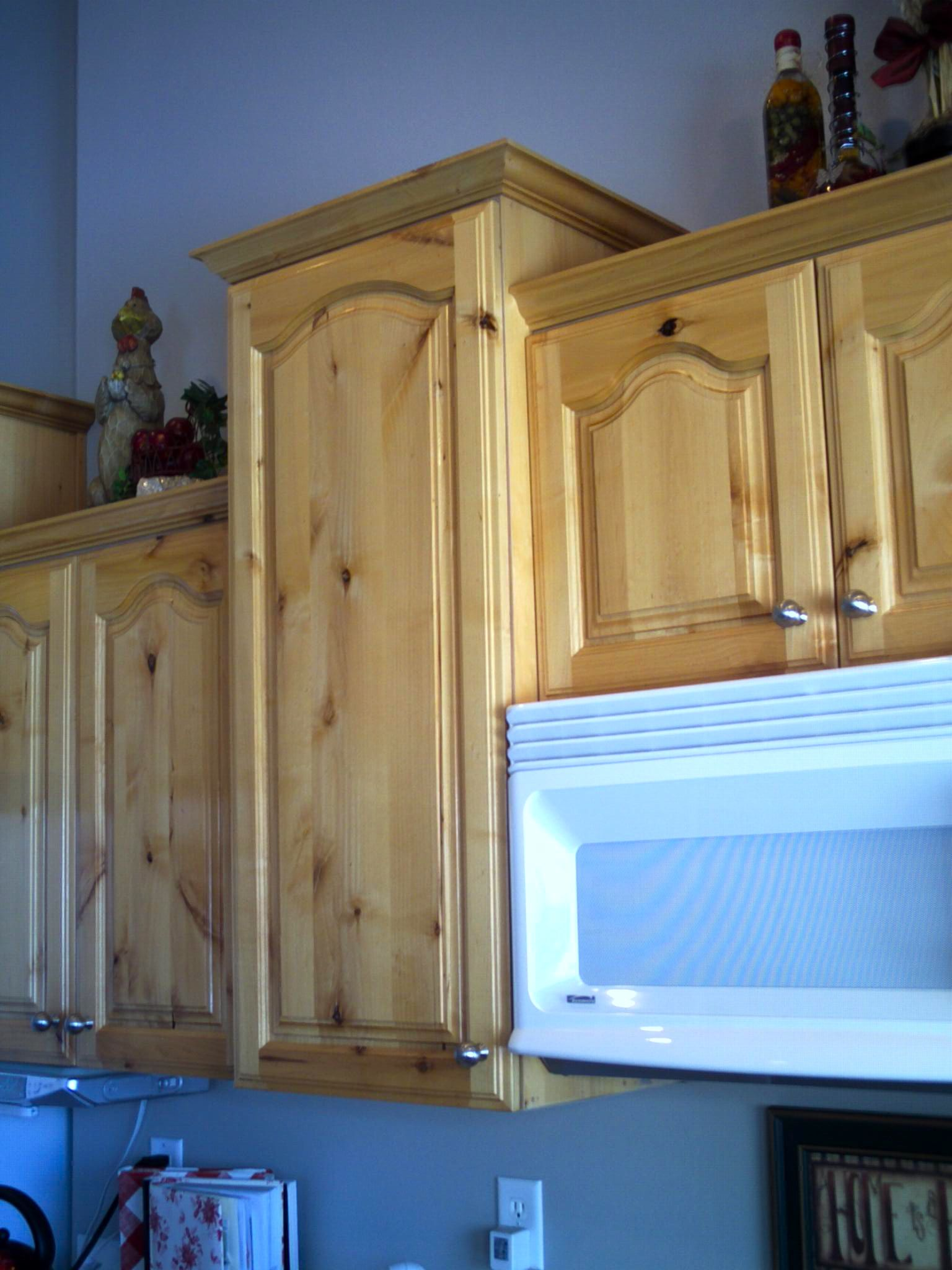 Refinished Knotty Alderwood Cabinets