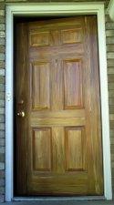 Woodgrained Single Metal Entrance Door