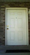 Original white metal door
