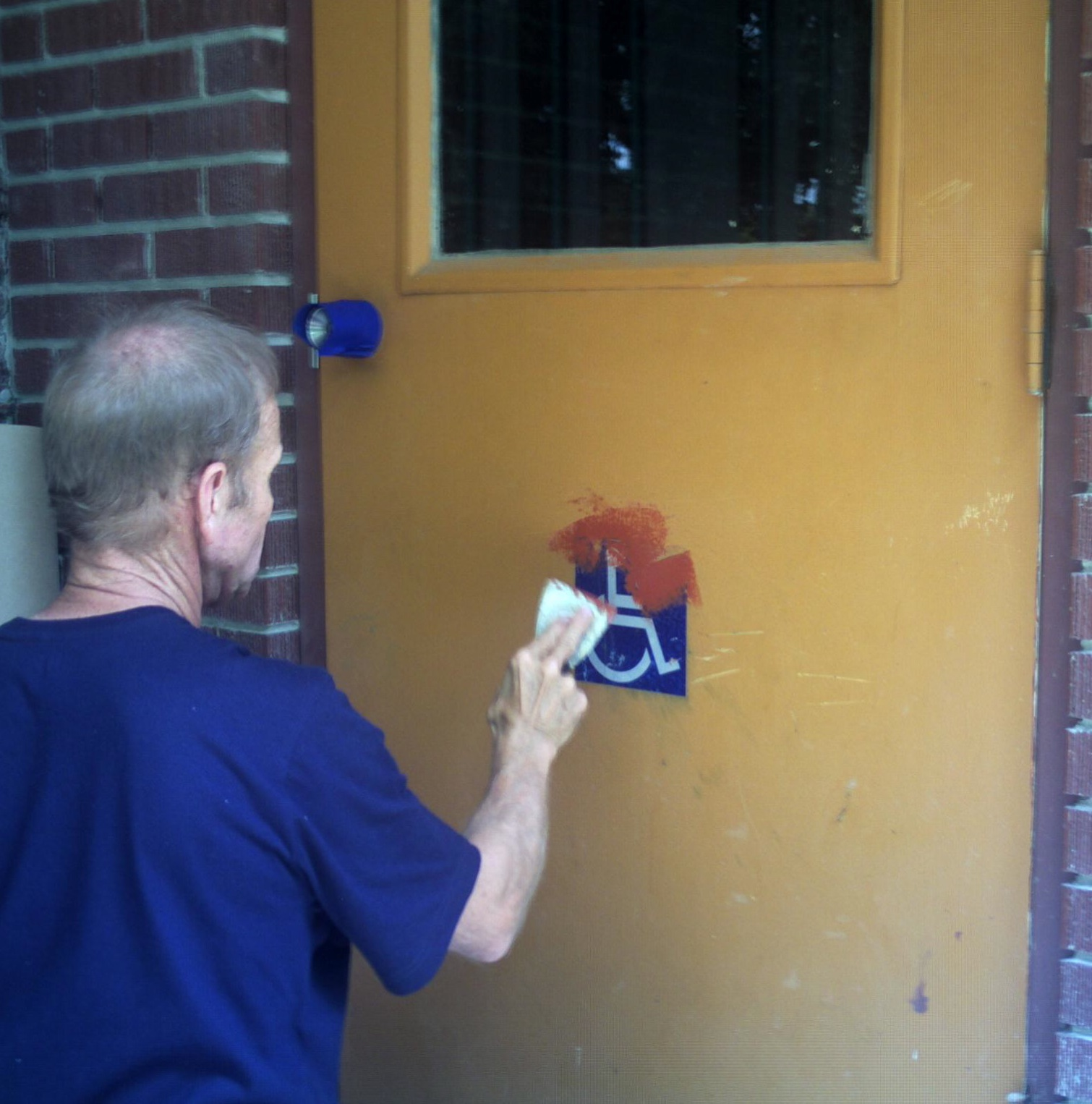 Putting bondo on metal utility door. & COMMERCIAL UTILITY DOOR pezcame.com