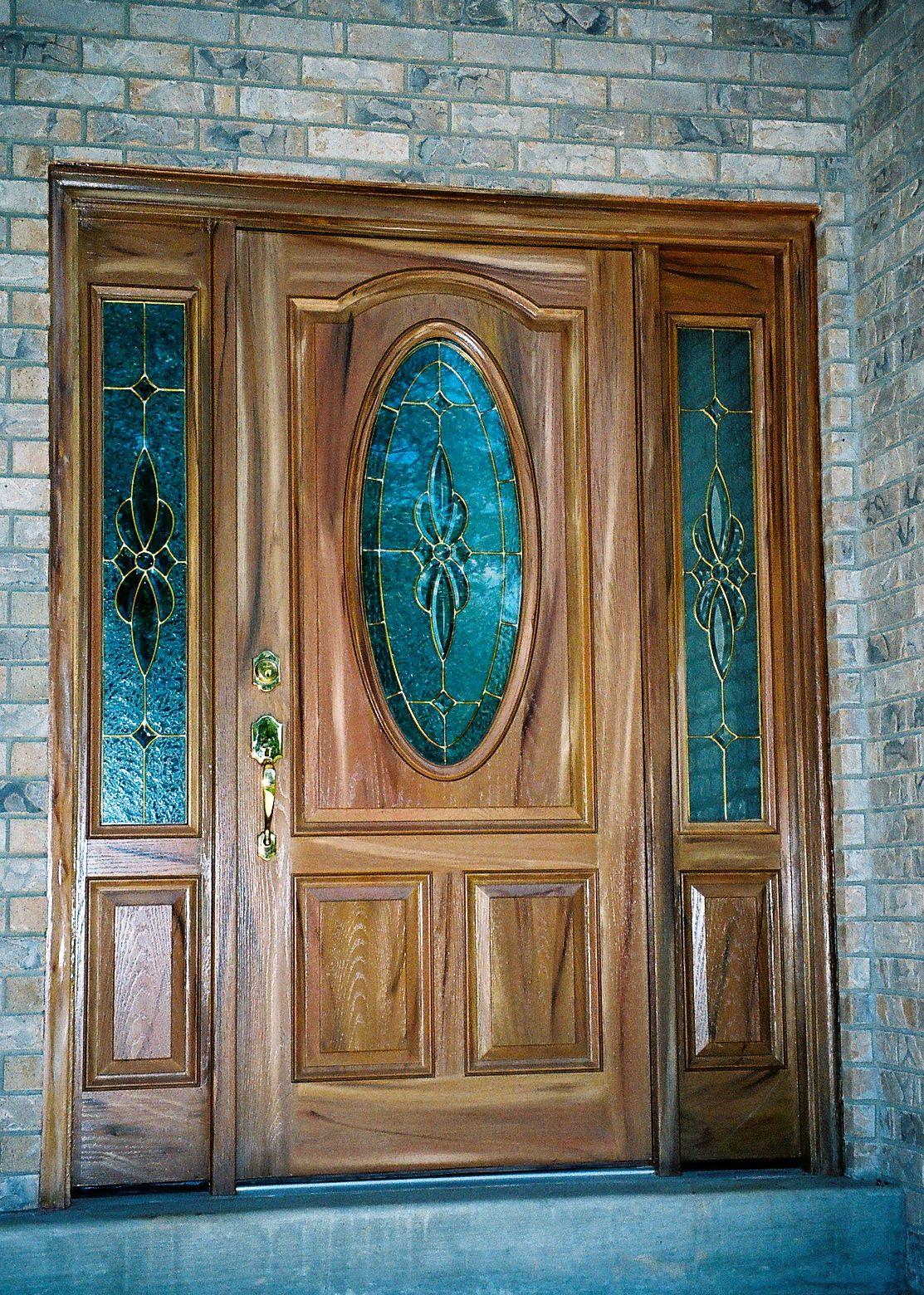 Refinished Fiberglass Door with Side Panels