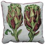 Artichoke needlepoint pillow kit by fine cell needlework
