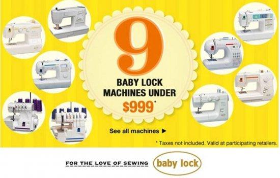 Baby Lock Special Deals