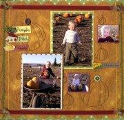 Pumpkin Patch Scrapbook Layout