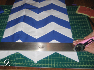 Chevron Clutch Sewing tutorial step 9
