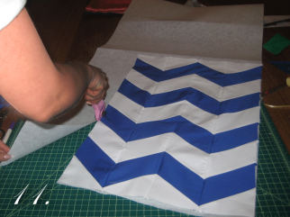 Chevron Clutch Sewing tutorial step 11