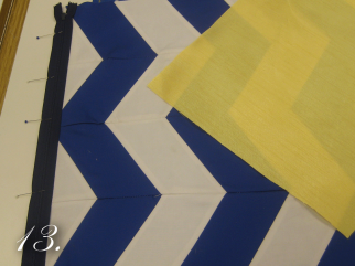 Chevron Clutch Sewing tutorial step 13