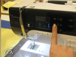Change your needle position on your Bernina to the farthest left position