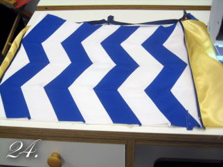 Chevron Clutch Sewing tutorial lining