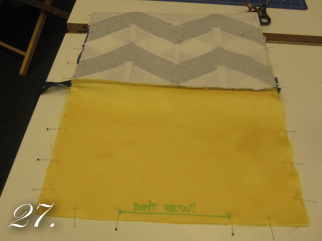 Chevron Clutch Sewing tutorial step