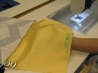 Chevron Clutch Sewing tutorial step