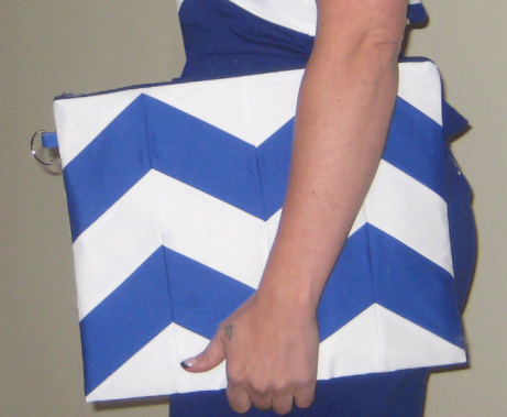 DIY Fashion Accessory - Chevron Clutch by The Tailor's Daughter