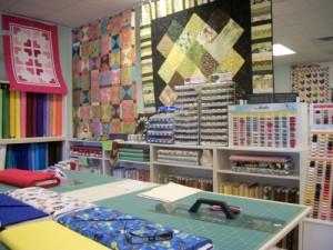 Interior of Quilt Store