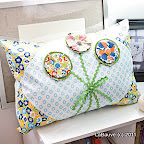 Tyla' Twirl (pillow) / McCall's Quick Quilts, August/September 2011 / Photo courtesy of McCall's Quick Quilts