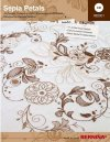 Sepia Petals Embroidery Designs