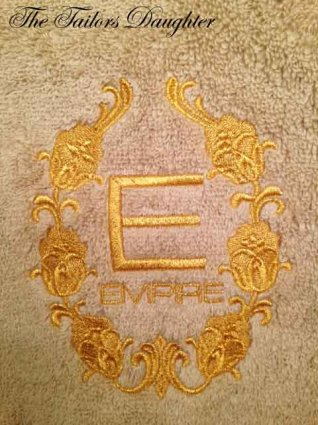 Monogram Towel Embroidery Custom BERNINA V7 Software BERNINA 580e