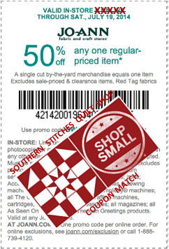50 percent off one regularly priced item