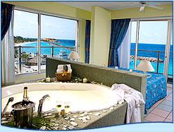 jacuzzi in suite Breezes resort