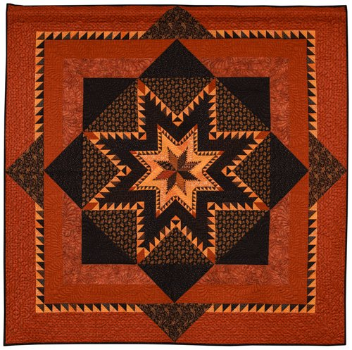 Intermediate Quilts, 1st Place: 'Feather Quest' by Loretta Orsborn