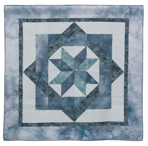Computerized Quilting, Small, 2nd Place: 'Labyrinth Shades of Gray' by Mary Torrey