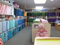 Our Batiks and Cutting Table
