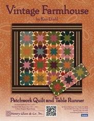Free Quilt Pattern by Kim Diehl - Vintage Farmhouse - Patchwork Quilt & Table Runner