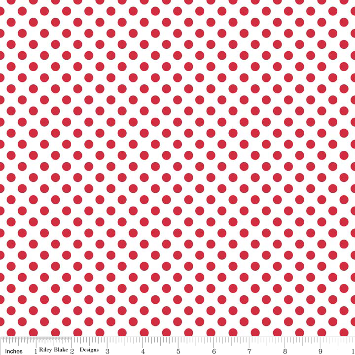 Mickey mouse red and white polka dot background