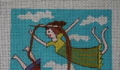how to needlepoint hair and fur gathered stitch