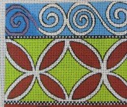 needlepoint spiral satin stitch