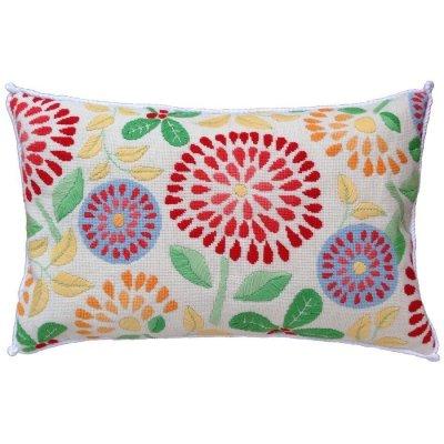 flower power needlepoint pillow kit