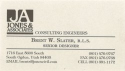 Brent Slater - Jones & Associates Business card