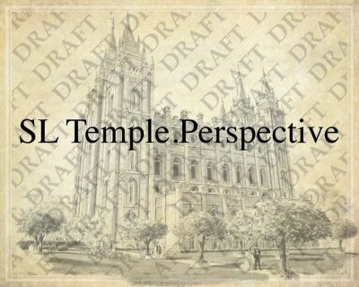 Salt Lake LDS Temple as a background for Family Trees