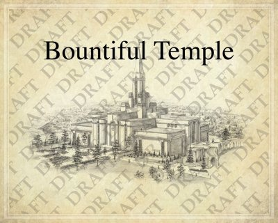 Bountiful LDS Temple as a background for a Family Tree