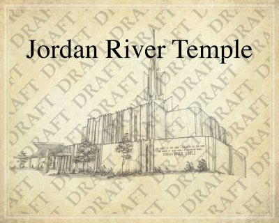 Jordan River LDS Temple as a background for Family Trees