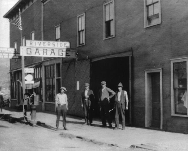 Hot Sulphur Springs Riverside Garage - 1914
