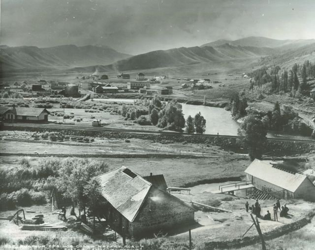 Hot Sulphur Springs, Colorado Moffat Road by L.C. McClure - 1906