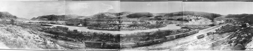 Hot Sulphur Springs, Colorado early panorama - date unknown