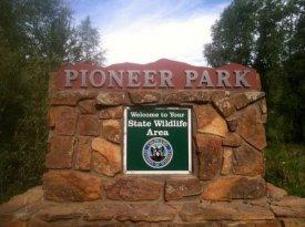 Hot Sulphur Springs, Colorado Pioneer Park - photograph by Ward Briggs