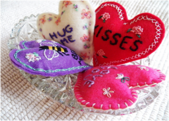 Embroidery Hearts