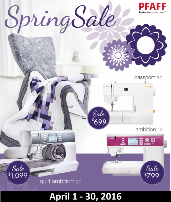 Pfaff Spring Sale