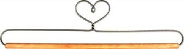 Hanger - 12 inch - Heart Holder With Stained Dowel