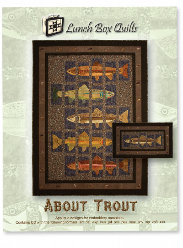 All About Trout-Machine Embroidery