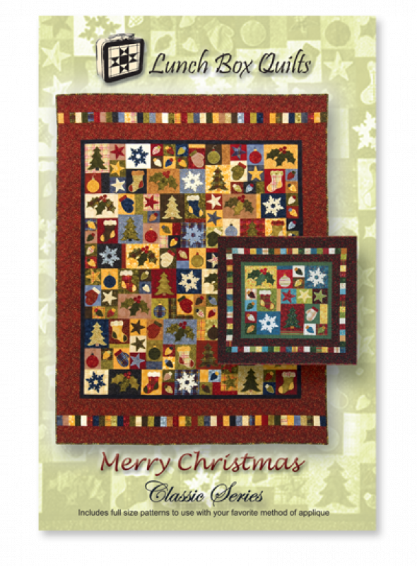 Classic Merry Christmas-Applique