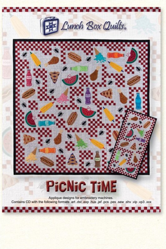 Picnic Time-Machine Embroidery