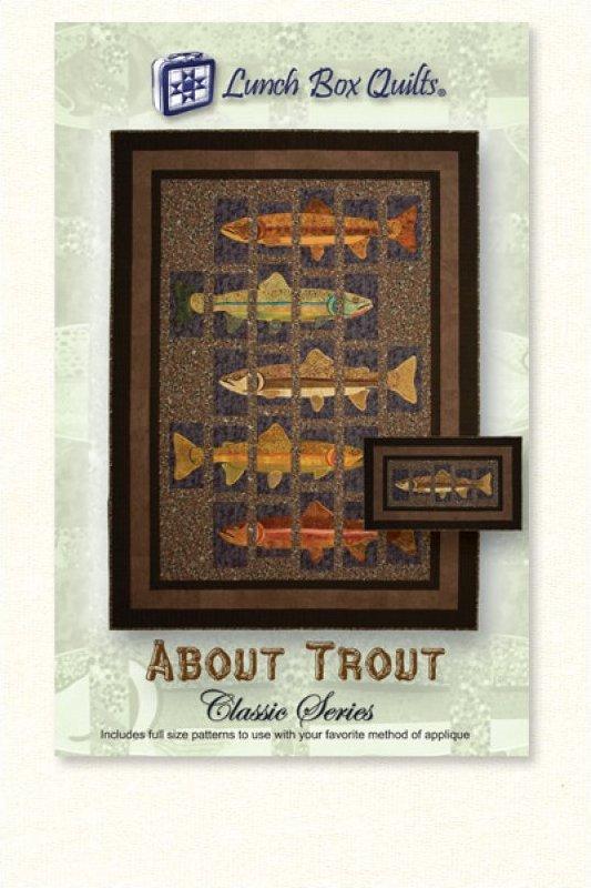 Classic All About Trout-Applique