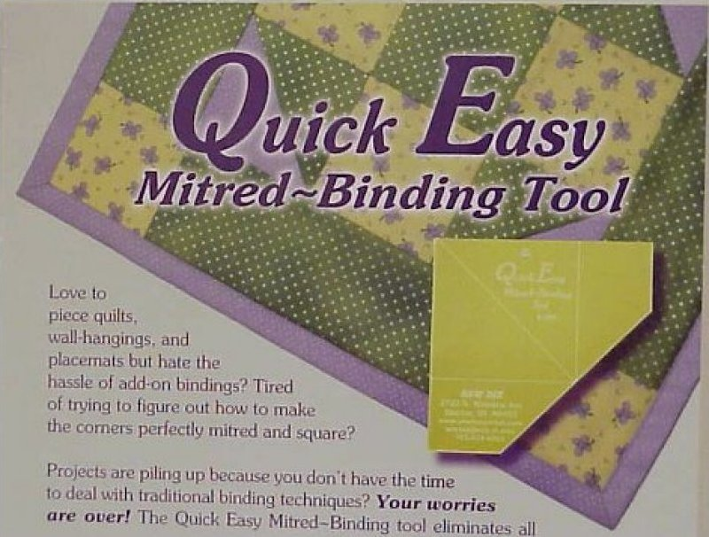 Quick Easy Mitered BINDING Tool : mitered quilt binding - Adamdwight.com