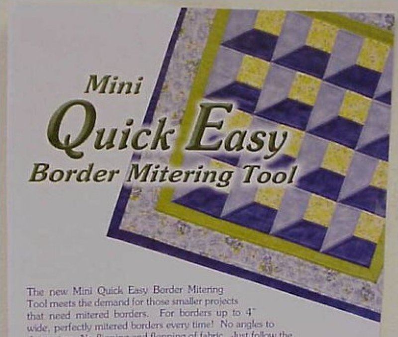 MINI Quick Easy BORDER Mitering Tool