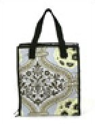 Accessory Tote - Light Blue Print